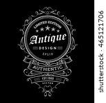 retro banner vintage frame... | Shutterstock .eps vector #465121706
