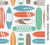 sea surfing pattern with... | Shutterstock .eps vector #465134846