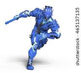 3d cg rendering of a robot | Shutterstock . vector #465137135
