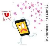 smart phone ran from virus... | Shutterstock .eps vector #465138482