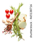 a food and healthy lifestyle... | Shutterstock . vector #465138716