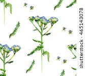 seamless pattern watercolor... | Shutterstock . vector #465143078