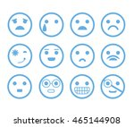 emoticon set | Shutterstock .eps vector #465144908