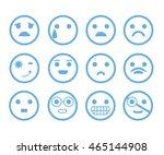 emoticon set | Shutterstock .eps vector #465144908