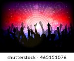 club party with dancing people | Shutterstock .eps vector #465151076