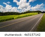 road up hill with green grass... | Shutterstock . vector #465157142