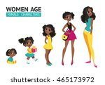 set of characters in cartoon... | Shutterstock .eps vector #465173972