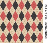red and black argyle pattern... | Shutterstock .eps vector #465175142
