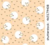 seamless pattern  lamb | Shutterstock .eps vector #465179408