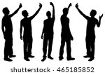 silhouettes of people taking... | Shutterstock .eps vector #465185852