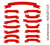 ribbon vector icon set red...   Shutterstock .eps vector #465187115