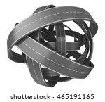 3d illustration of roads knot... | Shutterstock . vector #465191165