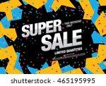 super sale banner. sale poster | Shutterstock .eps vector #465195995
