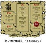 menu design | Shutterstock .eps vector #465206936