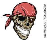 Skull With Bandana. Skull On A...