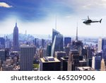 helicopter for sightseeing over ... | Shutterstock . vector #465209006