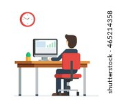 business person working on... | Shutterstock .eps vector #465214358