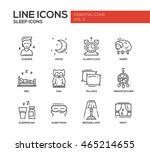 set of modern vector plain line ... | Shutterstock .eps vector #465214655