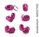 glossy purple pink ribbon reel... | Shutterstock . vector #465217232