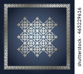 abstract card with ornamental... | Shutterstock .eps vector #465229616