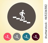 man on downstairs icon in round ... | Shutterstock .eps vector #465236582
