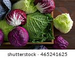 Fresh Cabbage In Wooden Crate ...