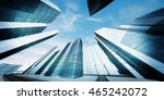modern city downtown. 3d... | Shutterstock . vector #465242072