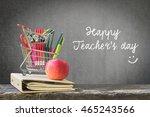 happy teacher's day concept... | Shutterstock . vector #465243566