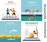 set of illustrations on boxing  ... | Shutterstock .eps vector #465245528
