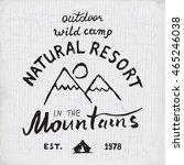 mountains hand drawn sketch... | Shutterstock . vector #465246038