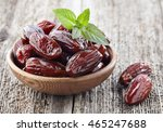 dates fruit with mint leaves | Shutterstock . vector #465247688