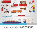 the big vector set of logistic. ... | Shutterstock .eps vector #465253688
