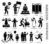neutral personalities character ... | Shutterstock .eps vector #465255896