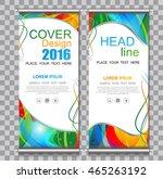 roll up business brochure flyer ... | Shutterstock .eps vector #465263192