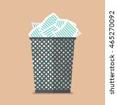 paper in the trash can. flat... | Shutterstock .eps vector #465270092