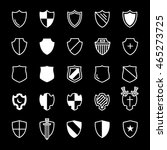 set of ancient shields with... | Shutterstock .eps vector #465273725
