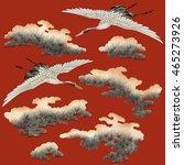 japanese style crane | Shutterstock . vector #465273926