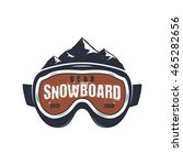 snowboarding goggles extreme... | Shutterstock .eps vector #465282656
