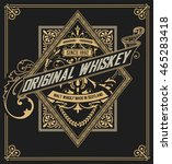 whiskey label with old frames.... | Shutterstock .eps vector #465283418