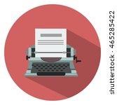 typewriter machine icon | Shutterstock .eps vector #465285422