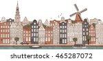 amsterdam  netherlands  ... | Shutterstock .eps vector #465287072