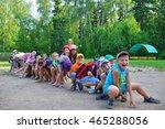 outdoor games on the field.... | Shutterstock . vector #465288056
