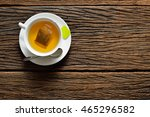 top view of a cup of tea with... | Shutterstock . vector #465296582
