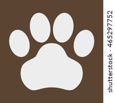 dog paw icon | Shutterstock .eps vector #465297752