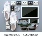 top view of clothing and... | Shutterstock . vector #465298532