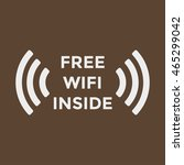free wifi icon | Shutterstock .eps vector #465299042