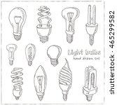 doodle set of  light bulbs ...   Shutterstock .eps vector #465299582
