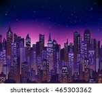 blue purple high detail vector... | Shutterstock .eps vector #465303362