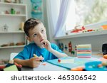 portrait of a thinking student... | Shutterstock . vector #465306542