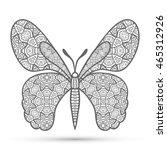 decorative ornate butterfly... | Shutterstock .eps vector #465312926